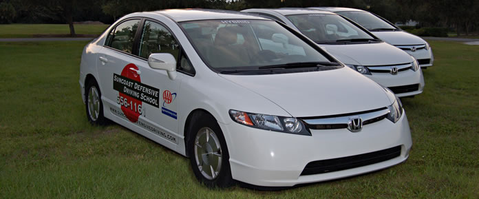 Use our car for your DMV road test. We prepare you for the test and show you all the techniques and hints you need to know. We will pick you up, be there for moral and practical support and drive you home. Taking your test in the car you trained in is very helpful. If your personal vehicle options are SUVs or manual transmissions, our car will be MUCH EASIER.